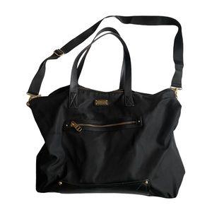 Madden Girl nylon black overnight bag